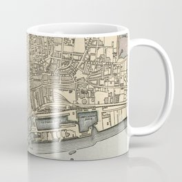 Vintage Map of Dundee Scotland (1901) Coffee Mug