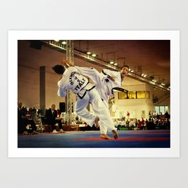 Traditional sparring - Taekwon-do ITF Art Print