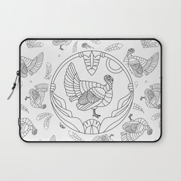 Pattern with turkey and feathers Laptop Sleeve