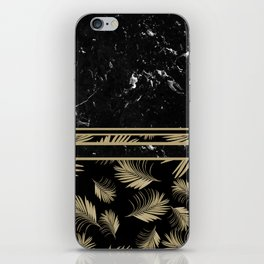 Black Marble Meets Tropical Palms #1 #decor #art #society6 iPhone Skin