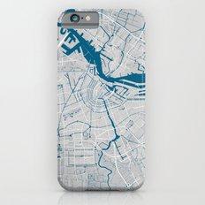 Amsterdam city map grey colour Slim Case iPhone 6s