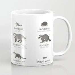 Infographic Guide to Forest Animals Coffee Mug