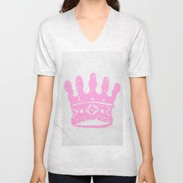 Crown Screen print - Wild Veda Unisex V-Neck