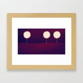 Lighted Trees Framed Art Print
