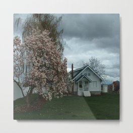 Ominous Clouds, White House Metal Print