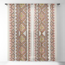 Ukrainian embroidery Sheer Curtain