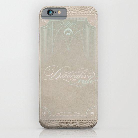 Decorative Rule iPhone & iPod Case
