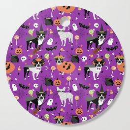 Boston Terrier Halloween - dog, dogs, dog breed, dog costume, cosplay cute dog Cutting Board