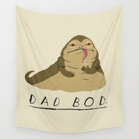 dad Wall Tapestries featuring dad bod by Louis Roskosch