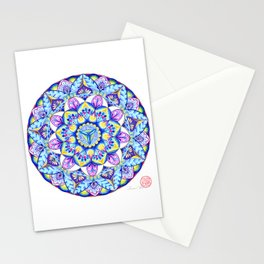 THROAT CHAKRA MANDALA Stationery Cards