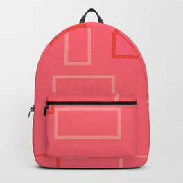 Shapes on Coral Backpack