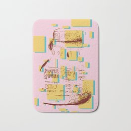 I Am What I Eat - Pink Coffee Bath Mat