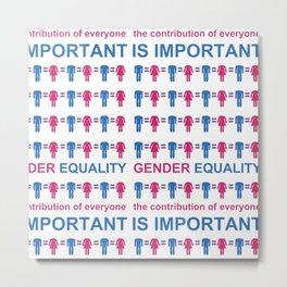 Gender Equality_05 by Victoria Deregus Metal Print