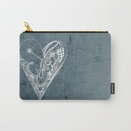 Ornament zentangled heart Carry-All Pouch