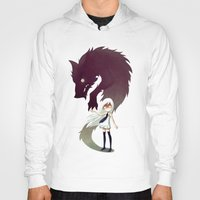 girl Hoodies featuring Werewolf by Freeminds