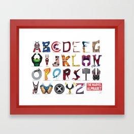 The ABC of the MCU - Horizontal Framed Art Print