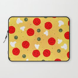 Cool fun pizza pepperoni mushroom Laptop Sleeve