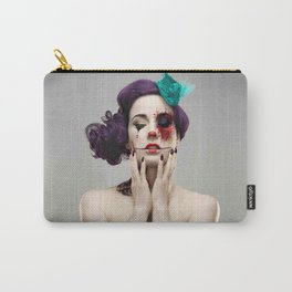 beautiful girl face tattoo Carry-All Pouch