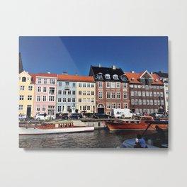 Nyhavn Harbor, Copenhagen Metal Print