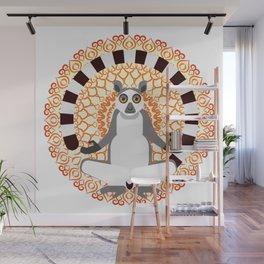Lemur yoga Wall Mural