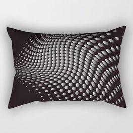 Black Waves Rectangular Pillow