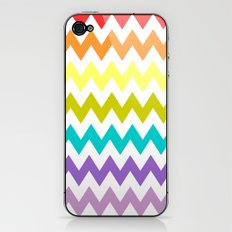 Rainbow Chevron iPhone & iPod Skin