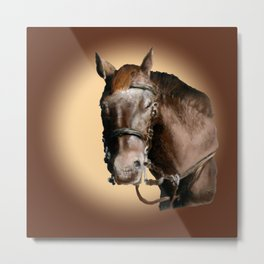 Season of the Horse - Pudding Metal Print