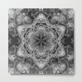 Magical black and white mandala 011 Metal Print