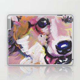 Corgi Pembroke Welsh Corgi Dog Portrait Pop Art painting by Lea Laptop & iPad Skin