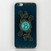 monogram iPhone & iPod Skins featuring Monogram B by Britta Glodde