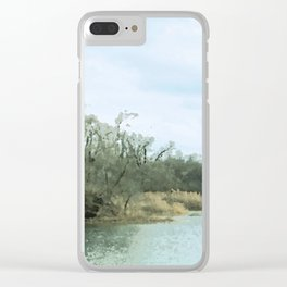 Lake Scene Clear iPhone Case