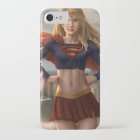 supergirl iPhone & iPod Cases featuring Supergirl by Pat Ventura