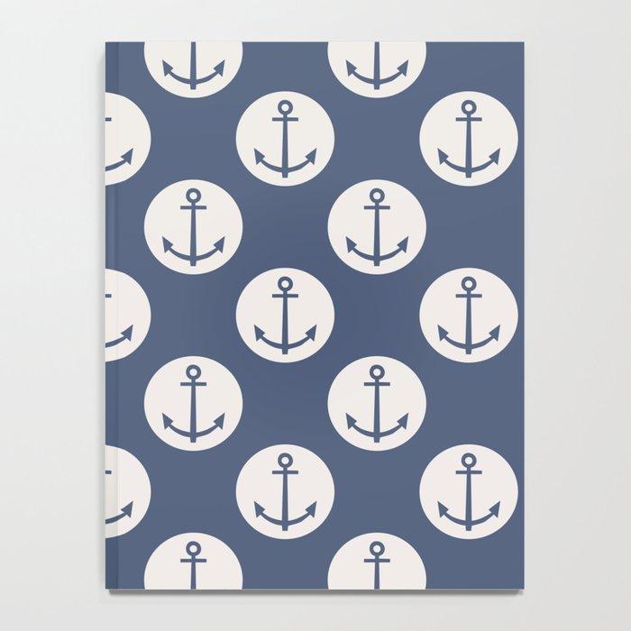 Blue Nautical Ships Anchor Notebook