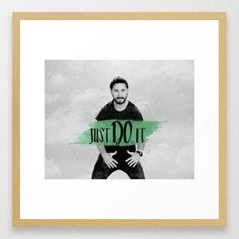 Shia LaBeouf - Just Do It Framed Art Print