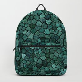 Oceanic Mosaic Crust Texture Abstract Pattern Backpack