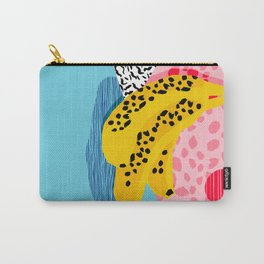 What It Is - memphis throwback banana fruit retro minimal pattern neon bright 1980s 80s style art Carry-All Pouch