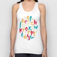 lettering Tank Tops featuring Lettering ABC by Sudjino