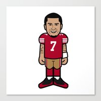 49ers Canvas Prints featuring There's A New Kaeptain Pro-Toon by Victorious Sports