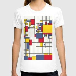 World Map Abstract Mondrian Style T-shirt
