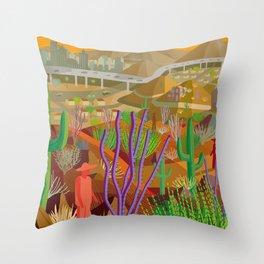 Desert City Phoenix Throw Pillow