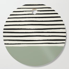 Sage Green x Stripes Cutting Board