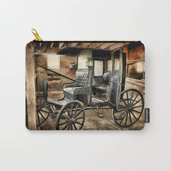 Vintage Horse Drawn Carriage Carry-All Pouch