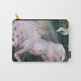 Unicorn Wood Forest Magic Stars Autumn Bird Carry-All Pouch