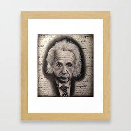 Einstein B&W Framed Art Print