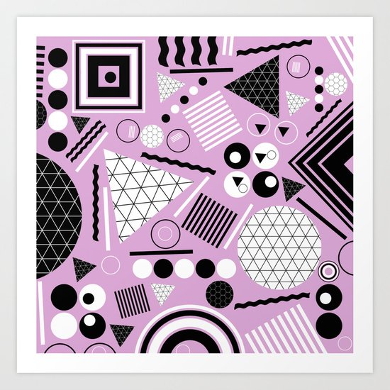 Busy Busy Busy Black And White! Art Print