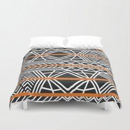 Tribal ethnic geometric pattern 022 Duvet Cover