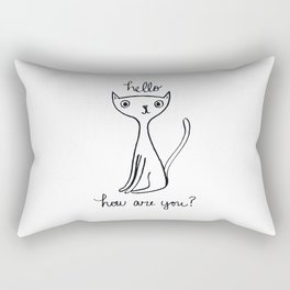 Friendly Cat Rectangular Pillow