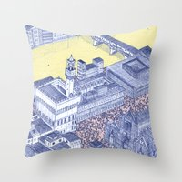 florence Throw Pillows featuring Florence by Dylan Davis