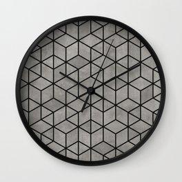 Hexagon concrete cubes Wall Clock