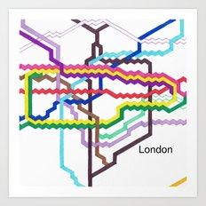 London Underground Square Art Print